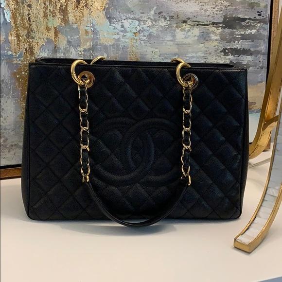 Chanel Grand Shopping Tote in Black Caviar 45f9db2eb0757